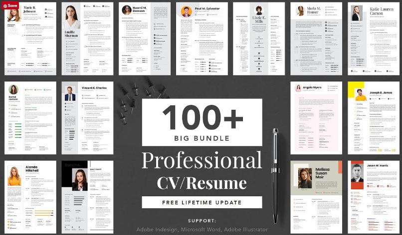 Big Bundle Professional CV Resume Free Download