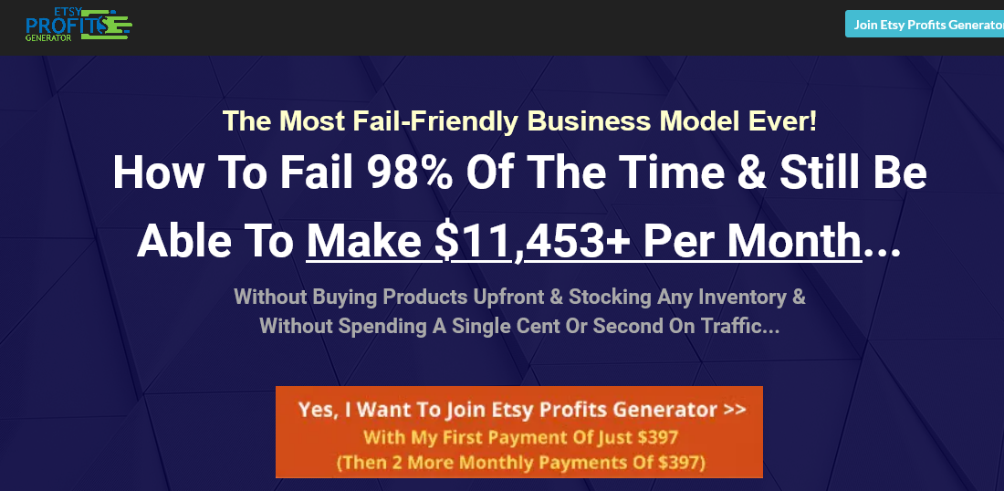 Dave Kettner - ETSY Profits Generator - How To Make $11,453+ Per Month On ETSY Download